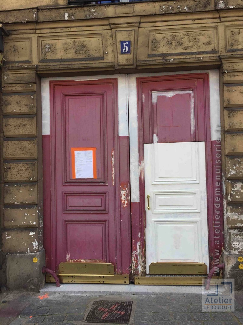 2016 07 Porte Cochère Rénovée Avant Peinture 5 Rue Dailly à Saint Cloud