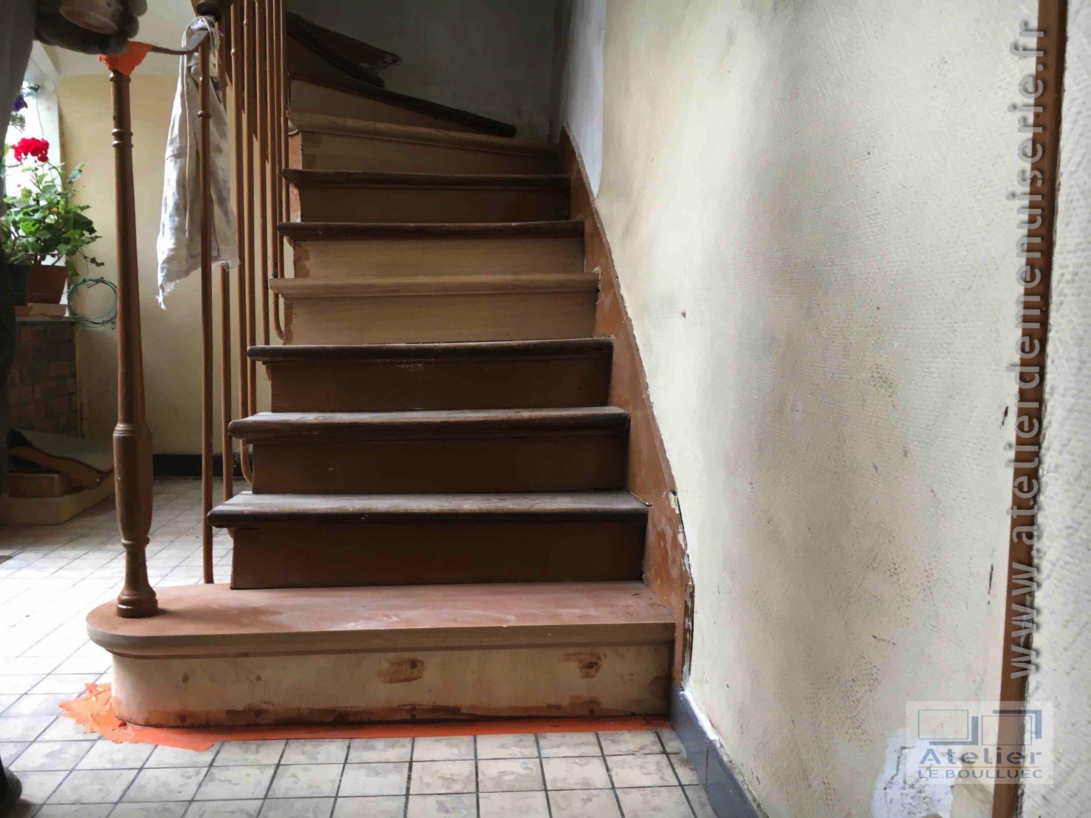 2017 06 Retauration Escalier En Chêne