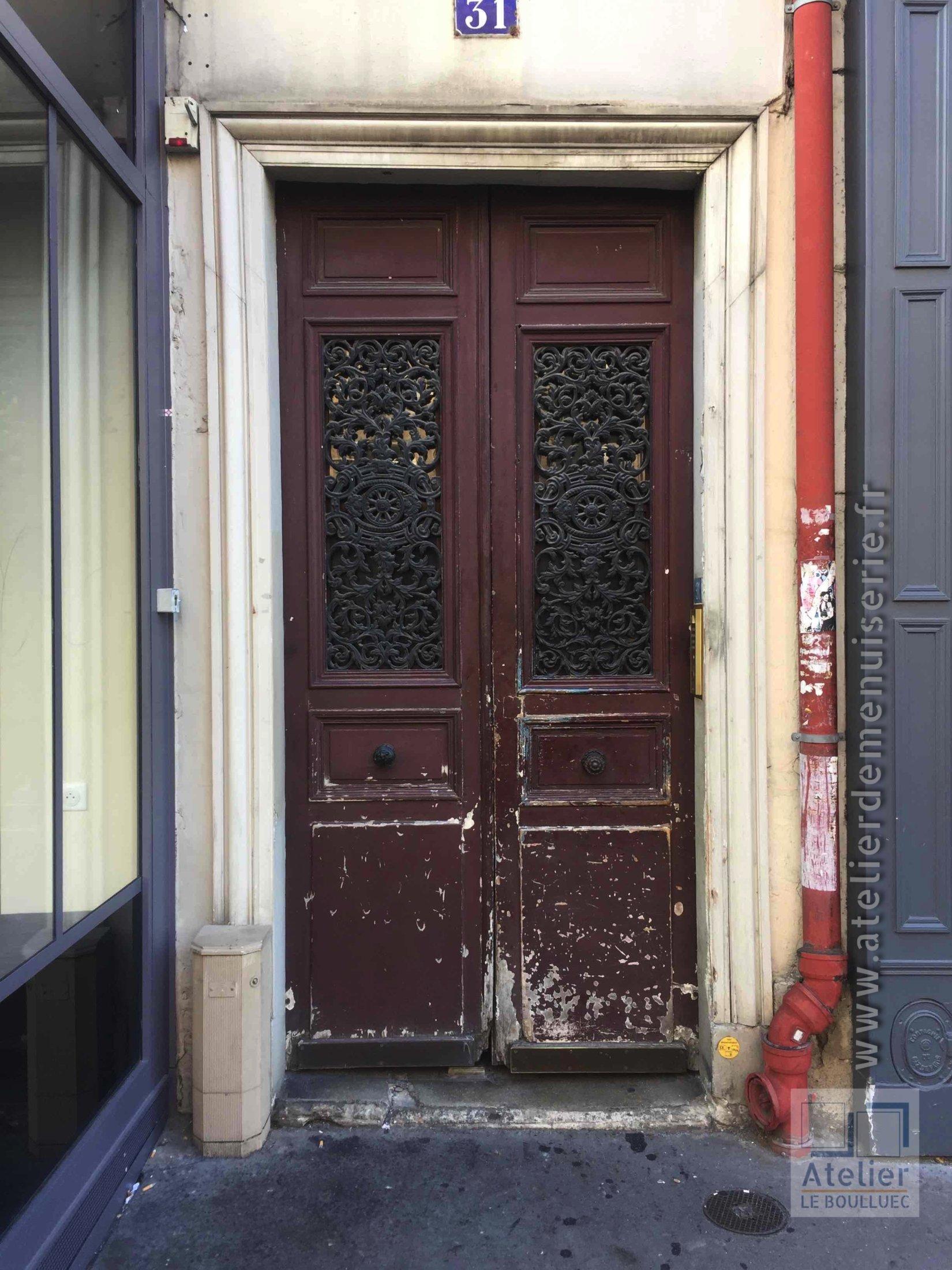 2018 01 Porte Rue 31 Rue De Linné Paris 5 - 1 Avant Travaux