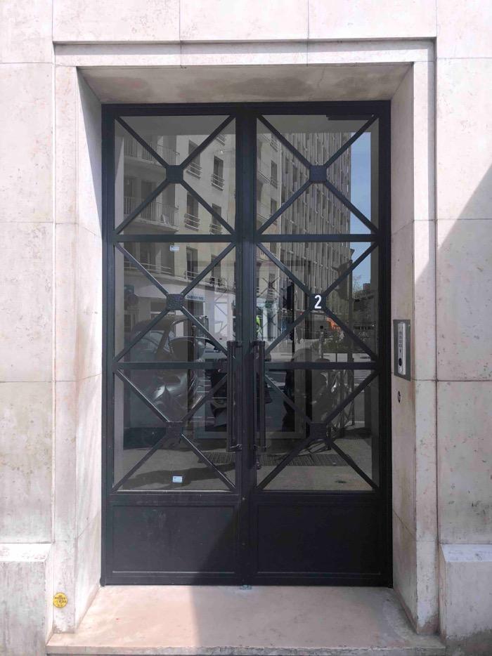2018 06 Porte Acier - 1 Vue D\'ensemble - 2 Rue De Colombes Courbevoie