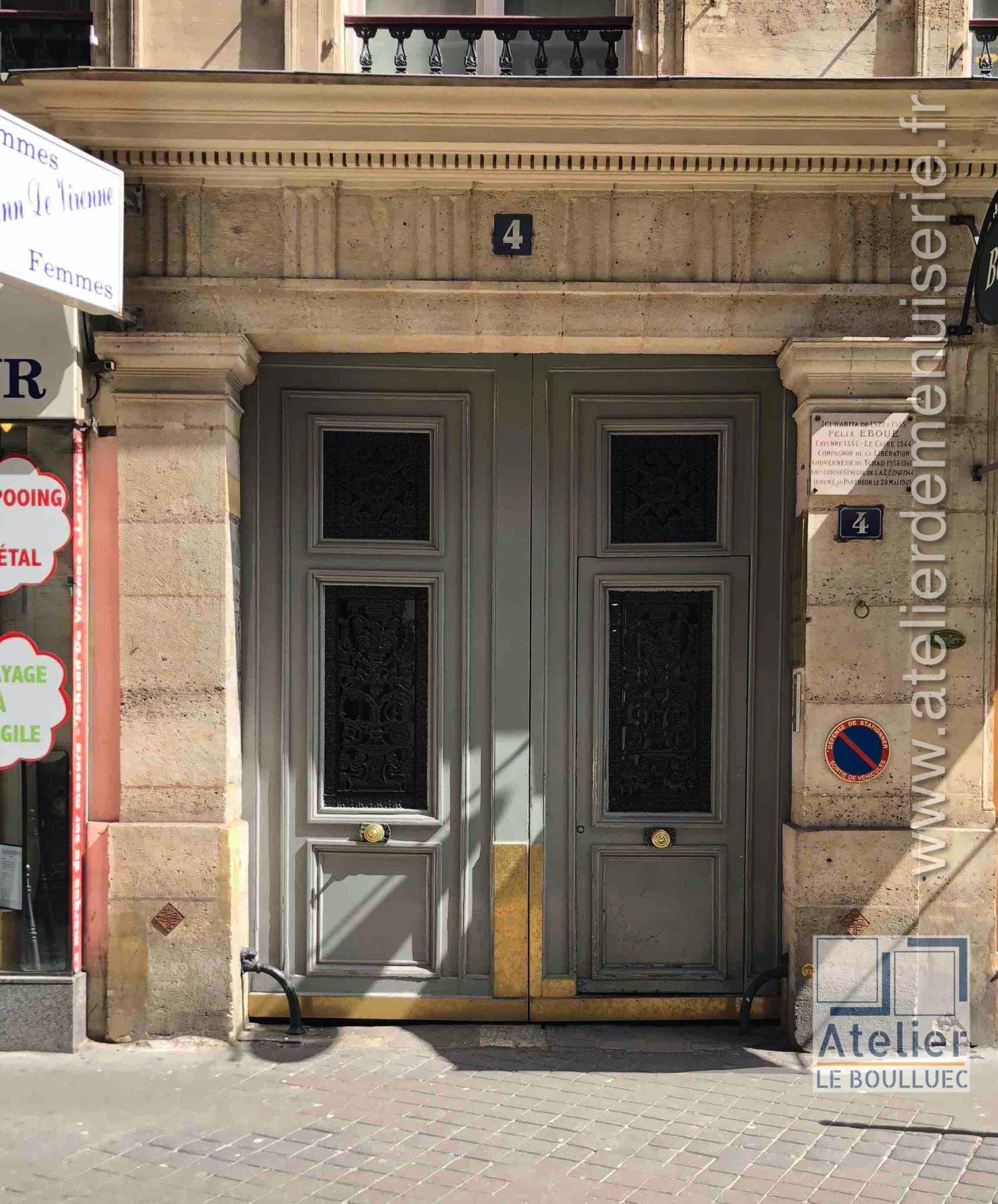 2020 01 Porte Cochère 4 Rue Chauveau Lagarde Paris 8 - P00 - Vue Ext Générale Avant Travaux