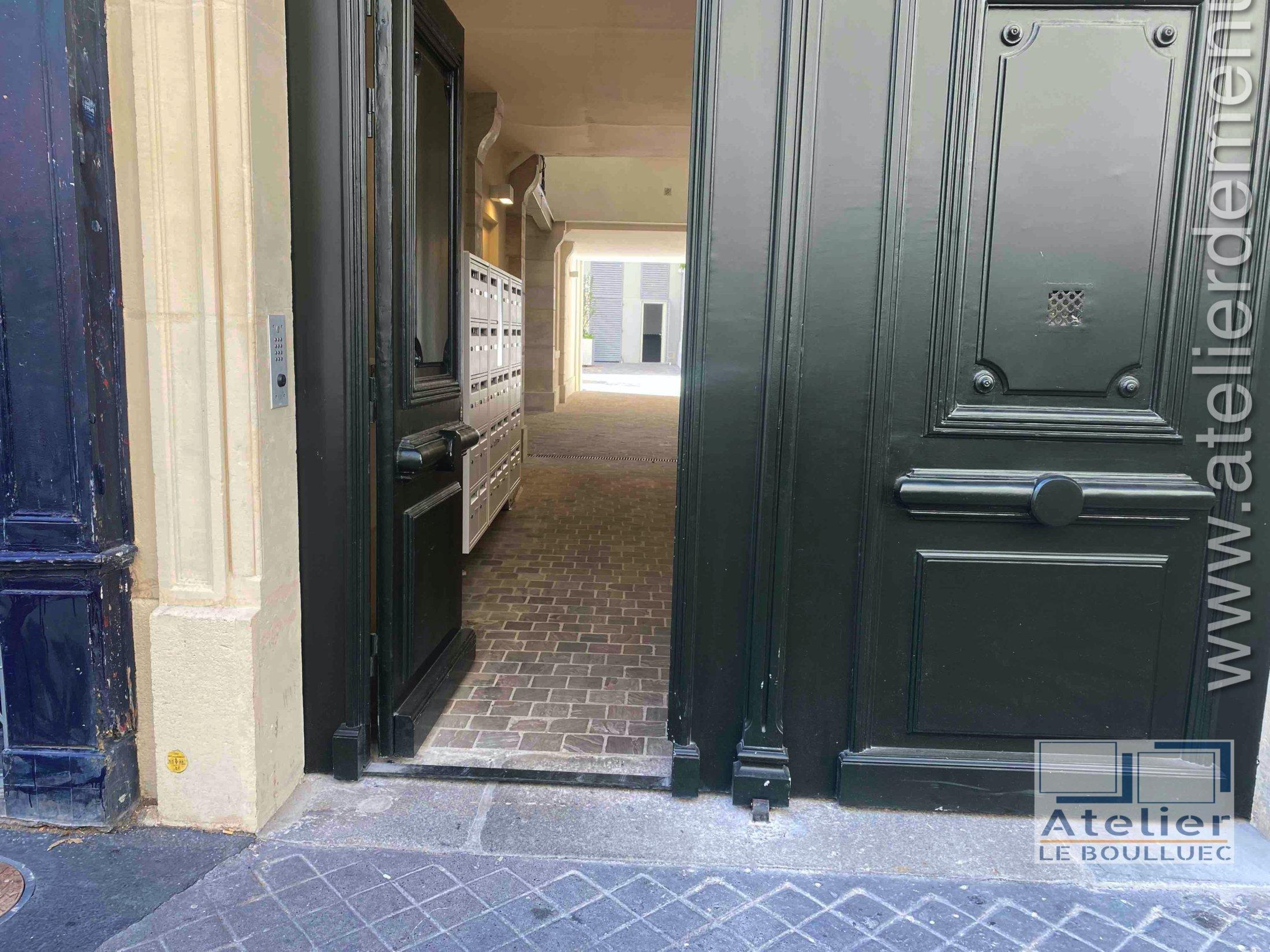 2020 02 Porte Cochère 25 Rue Poliveau Paris 5 Détail Seuil Surbaissé