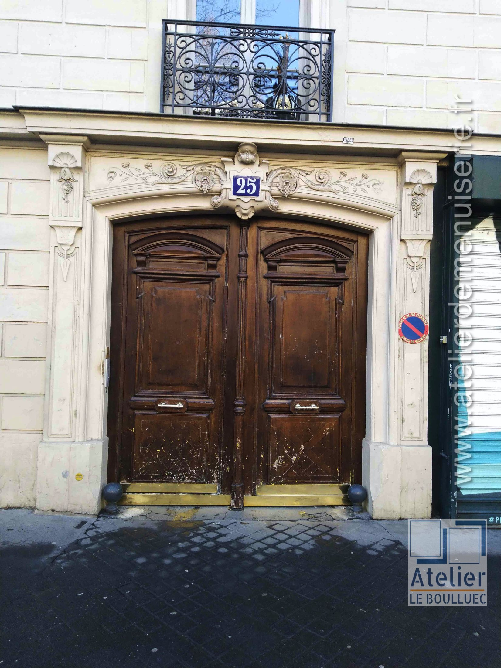 2020 04 Porte Cochère 25 Avenue Trudaine Paris 9 P1 Avant Travaux