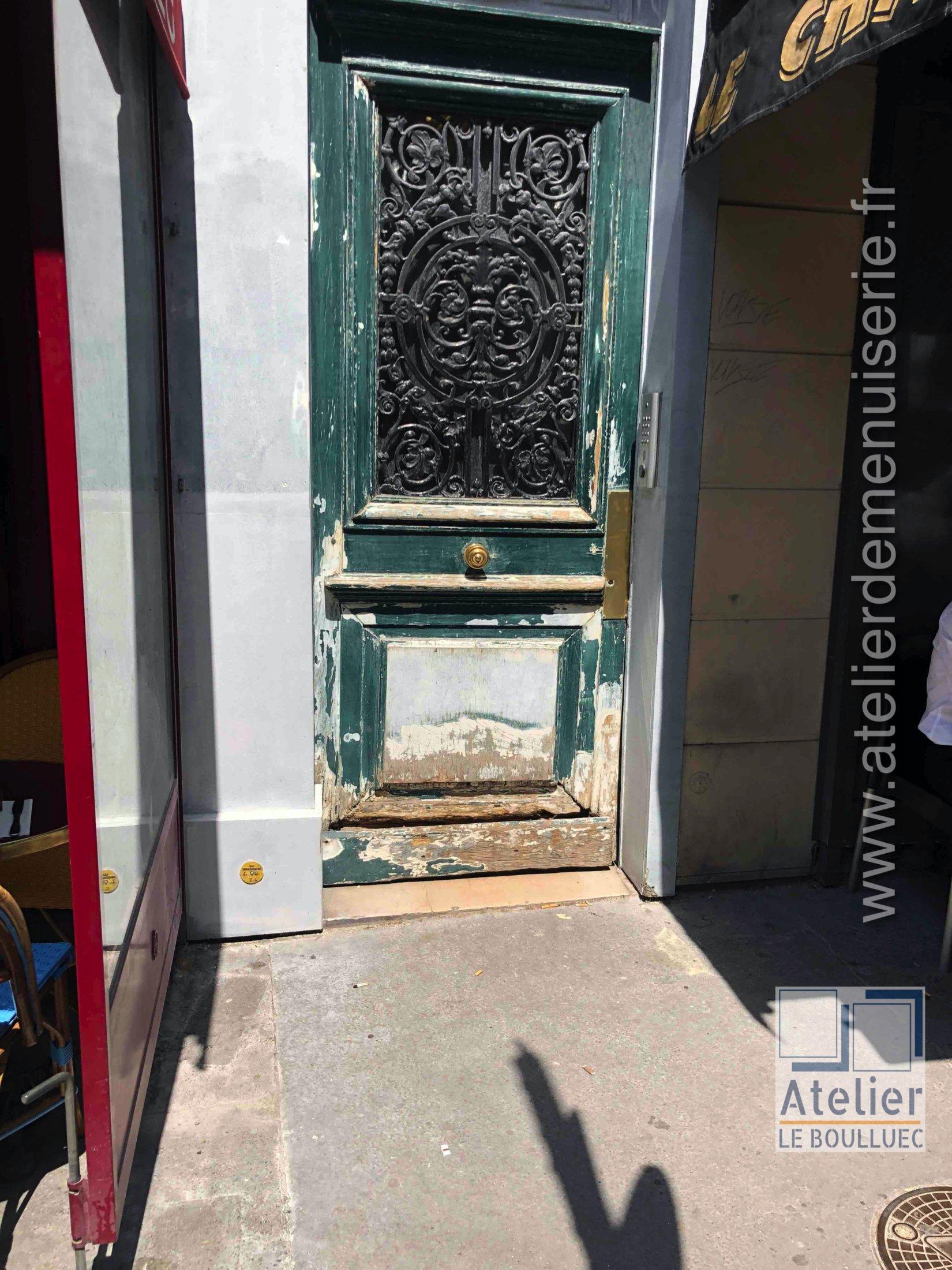 2020 09 Porte Rue 72 Bd Des Batignoles Photo 1 Avant Restauration
