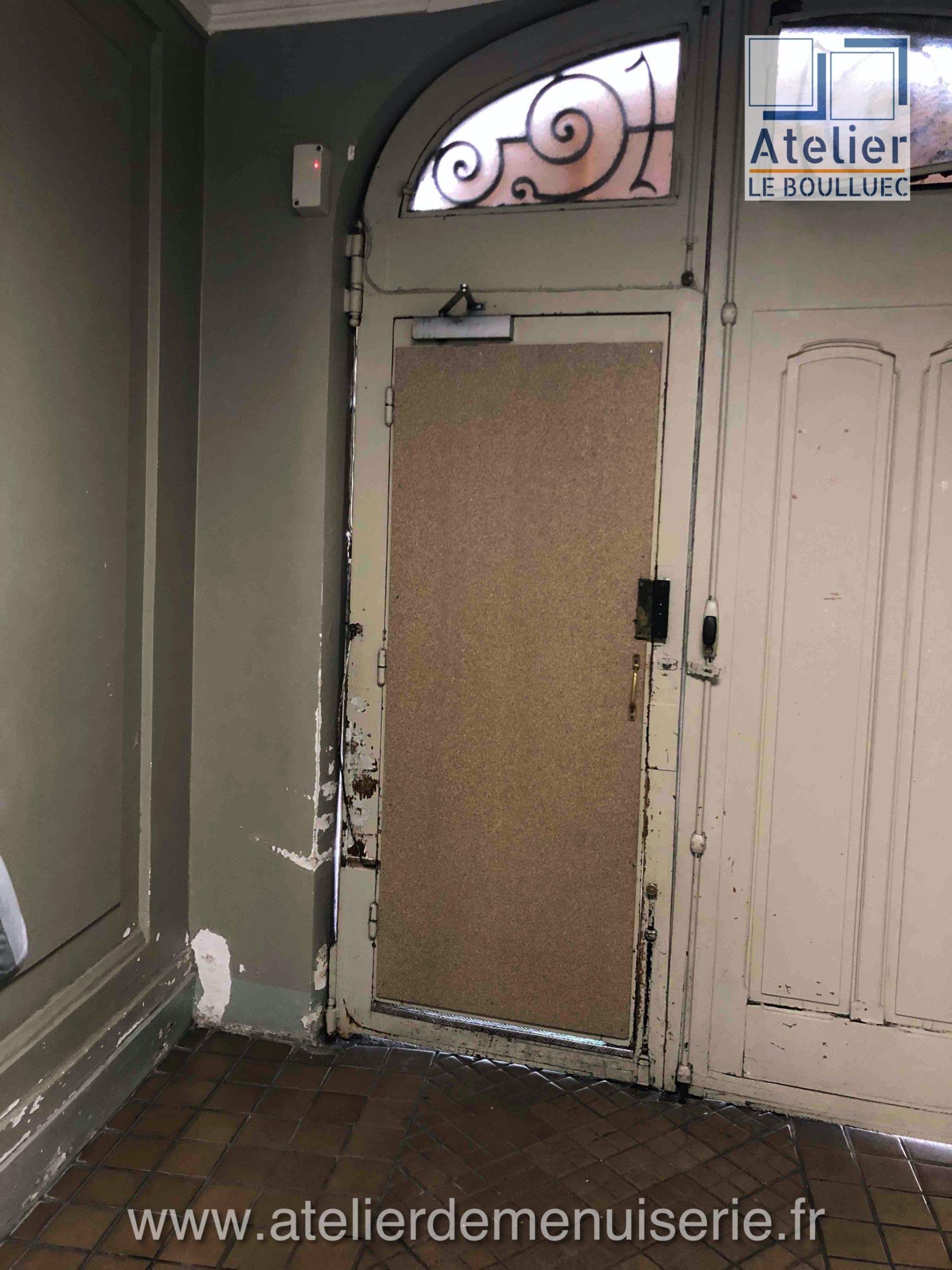 2021 01 PORTE COCHERE 40 RUE DES ABBESSES P1 Avant Restauration Face Intérieure