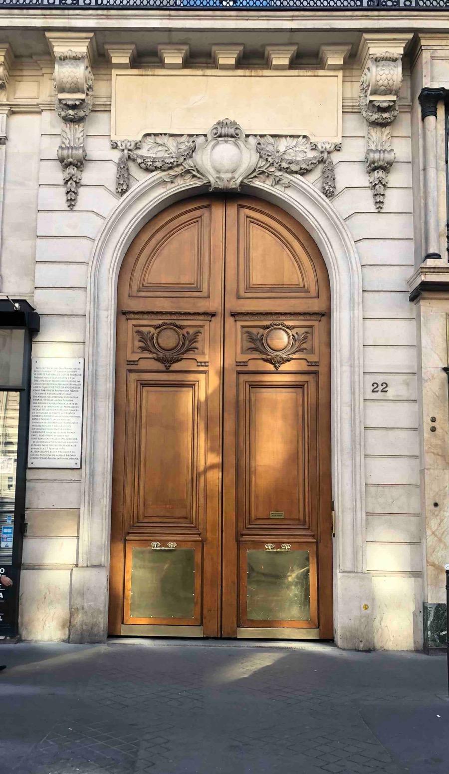 22 AVENUE DE L\'OPERA PARIS 1