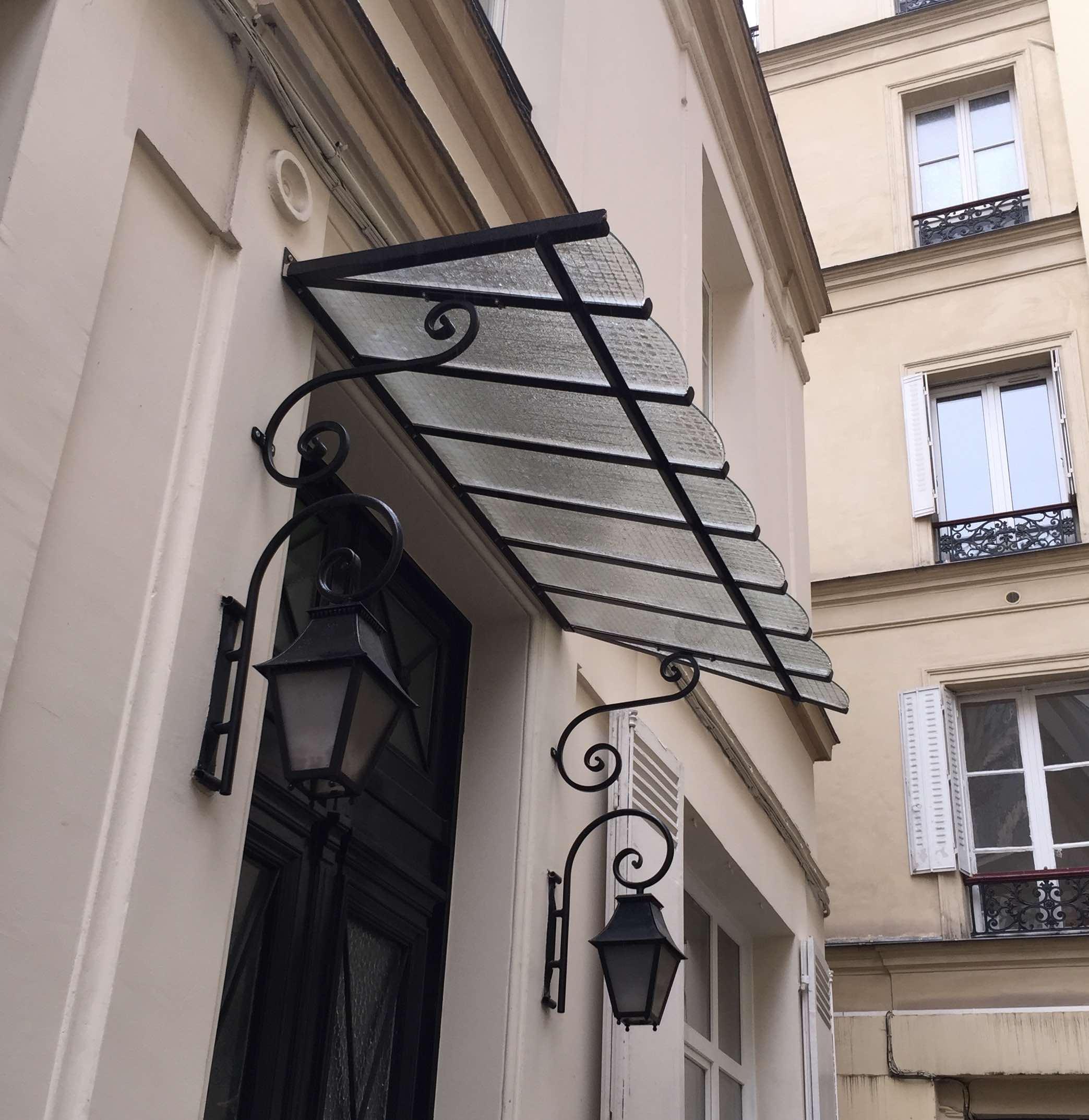 Marquise Porte Immeuble Hausmannien