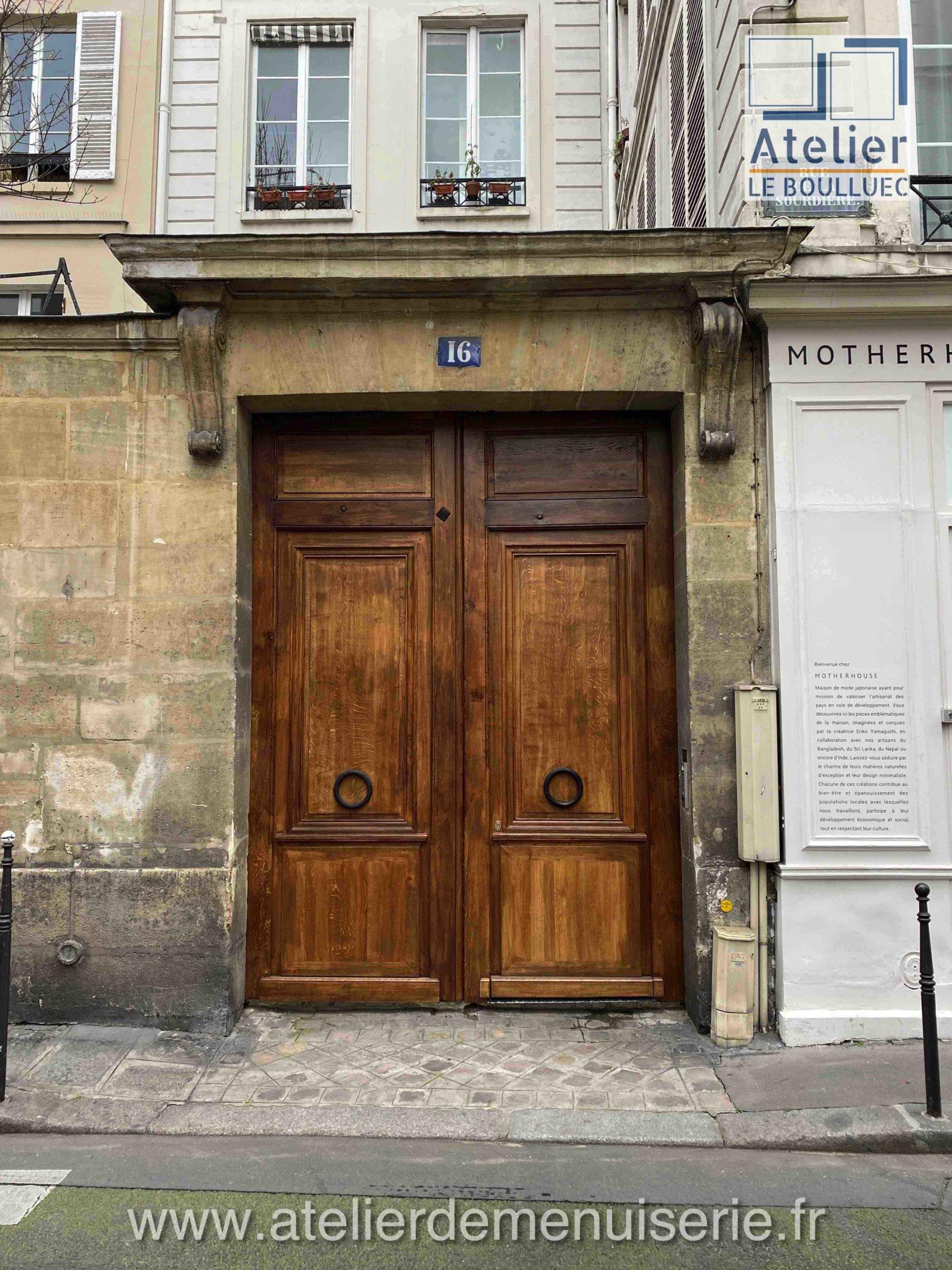PORTE COCHERE 16 RUE DE LA SOURDIERE PARIS 2