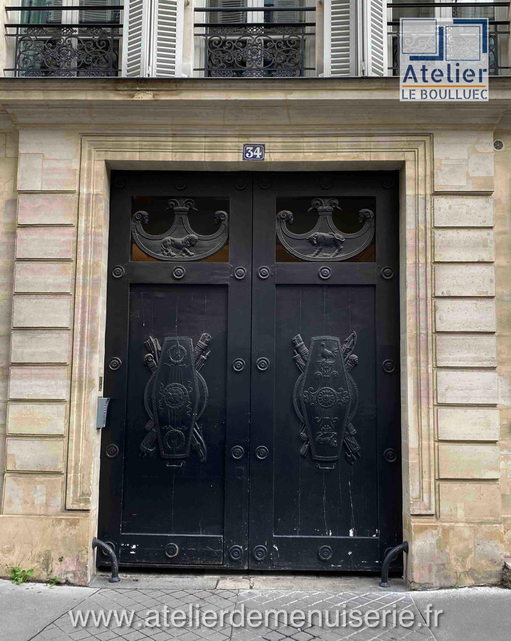 PORTE COCHERE 34 RUE DE PROVENCE PARIS 11