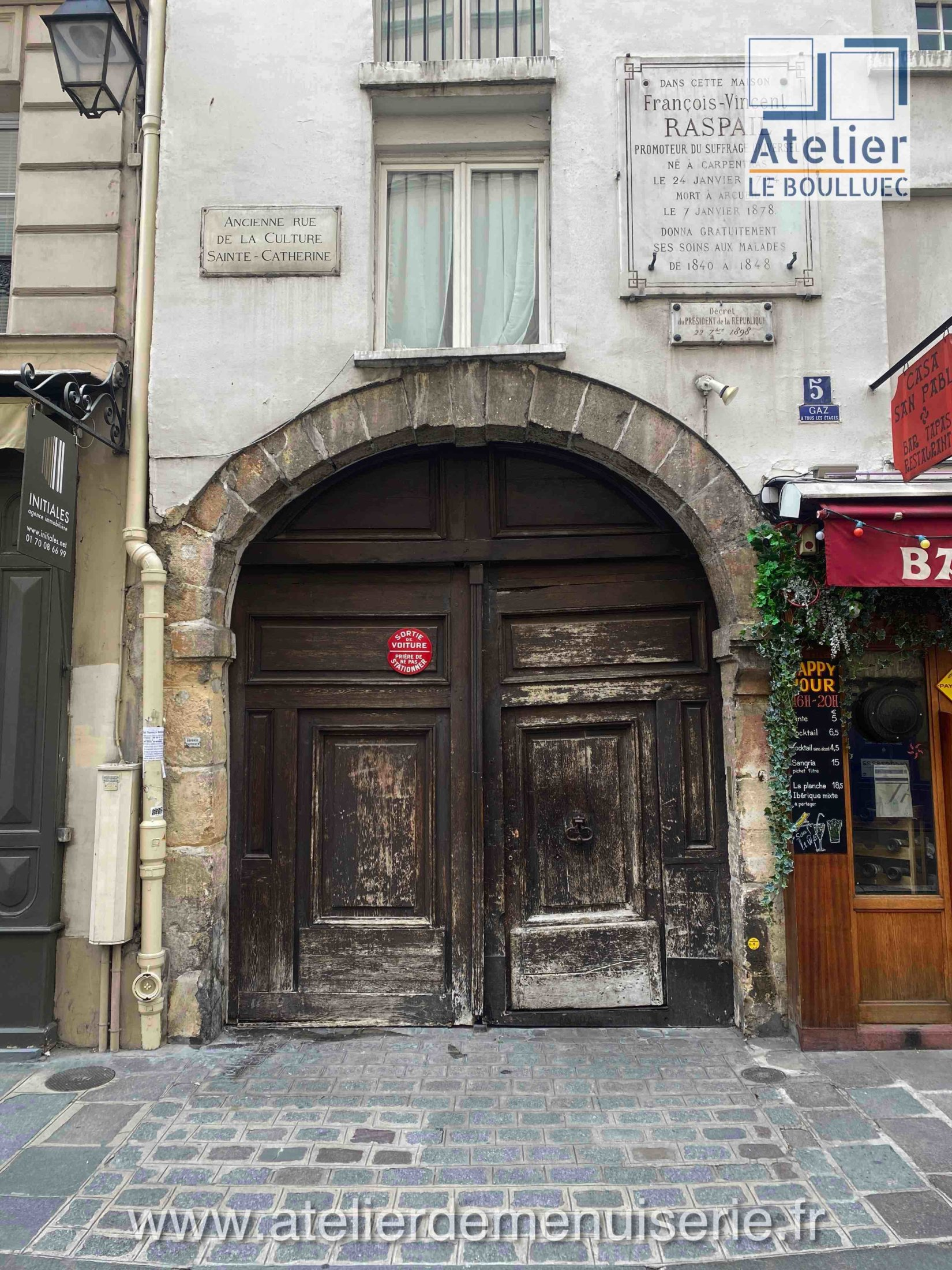 PORTE COCHRE 5 RUE SEVIGNE PARIS 4