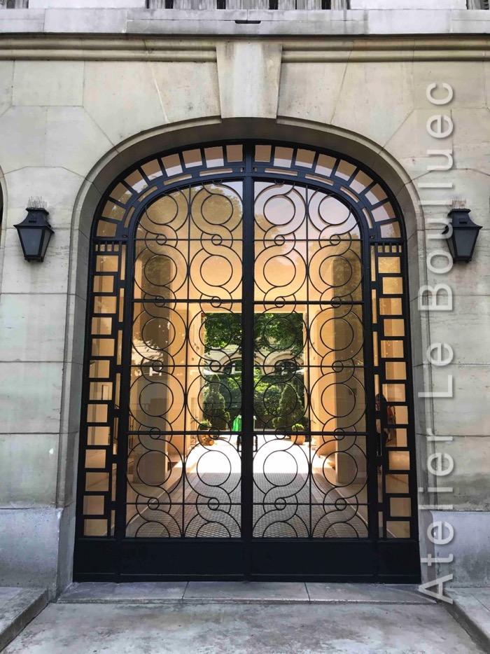 PORTE FER FORGE 41 RUE BOULARD PARIS 14