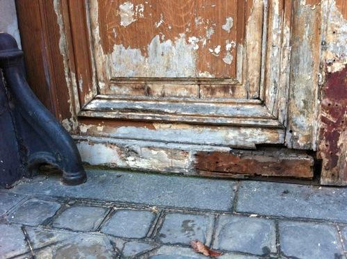 Porte 276 Charenton Vantail G Avant Réparations