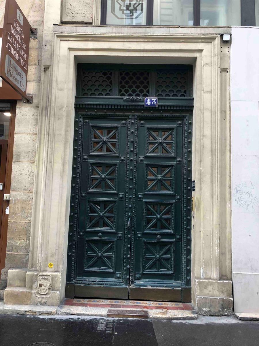 Porte Batarde 43 RUE VIVIENNE PARIS