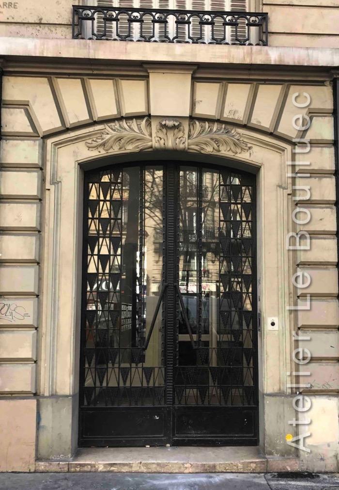 Porte Batarde En Fer Forgé - 84 Avenue De La République - Paris 11