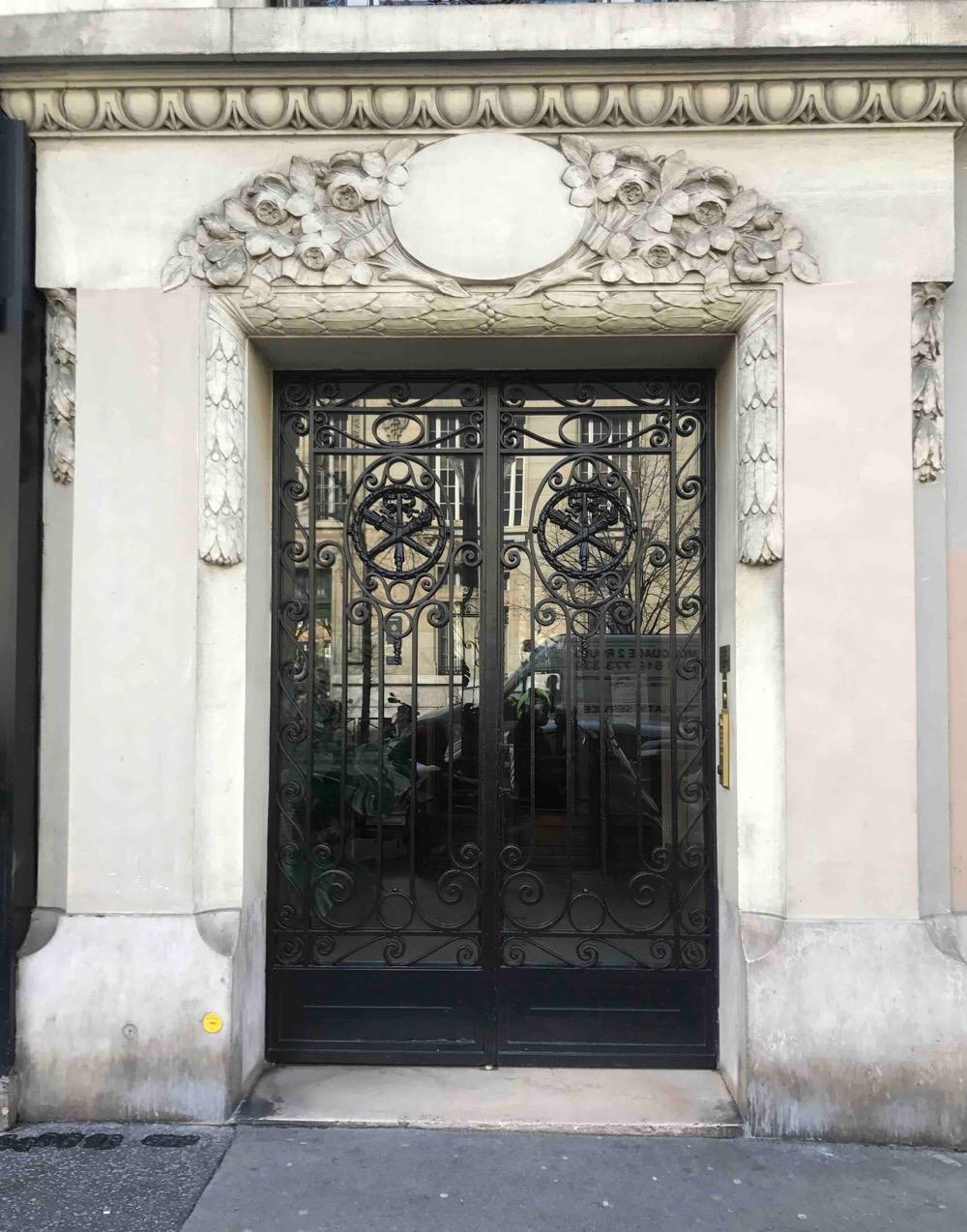 Porte Batarde En Fer Forgé - 90bis Avenue De La République - Paris 11