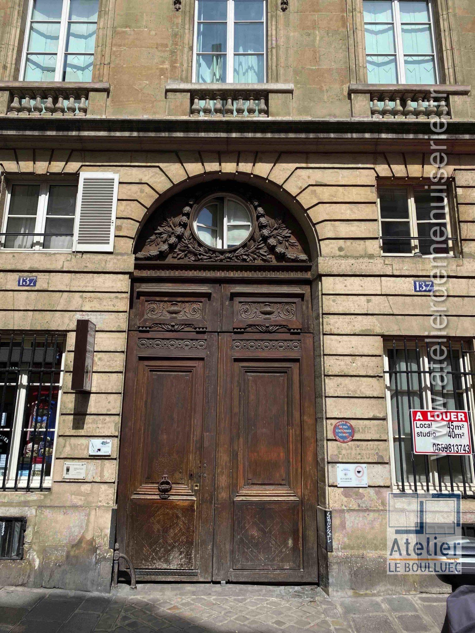 Porte Cochère - 137 RUE VIEILLE DU TEMPLE PARIS 3