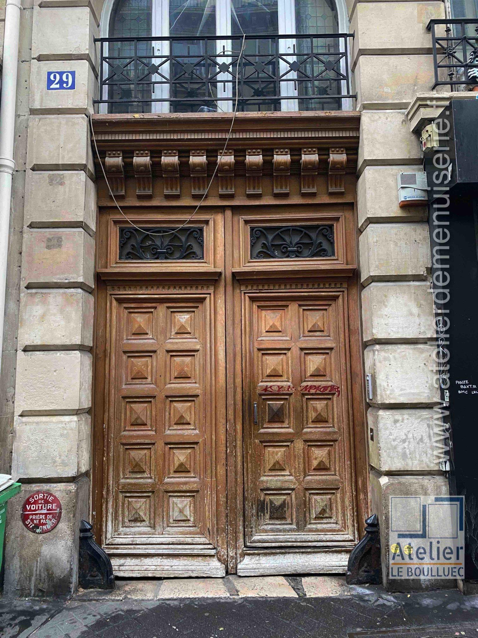 Porte Cochère LOUIS XV - 29 RUE DU CHATEAU D\'EAU PARIS 10