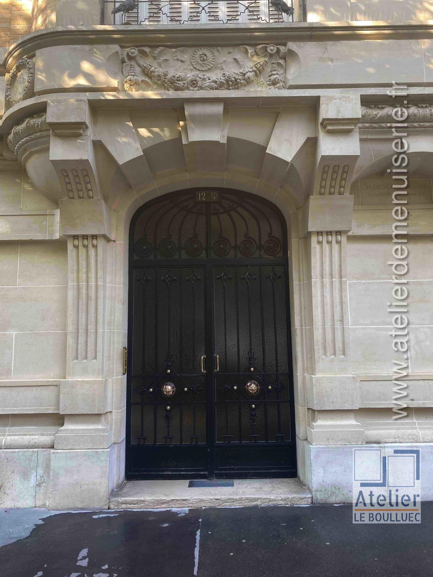 Porte Cochère Acier Forgé - 12 Avenue Elysée Reclus - Paris 7