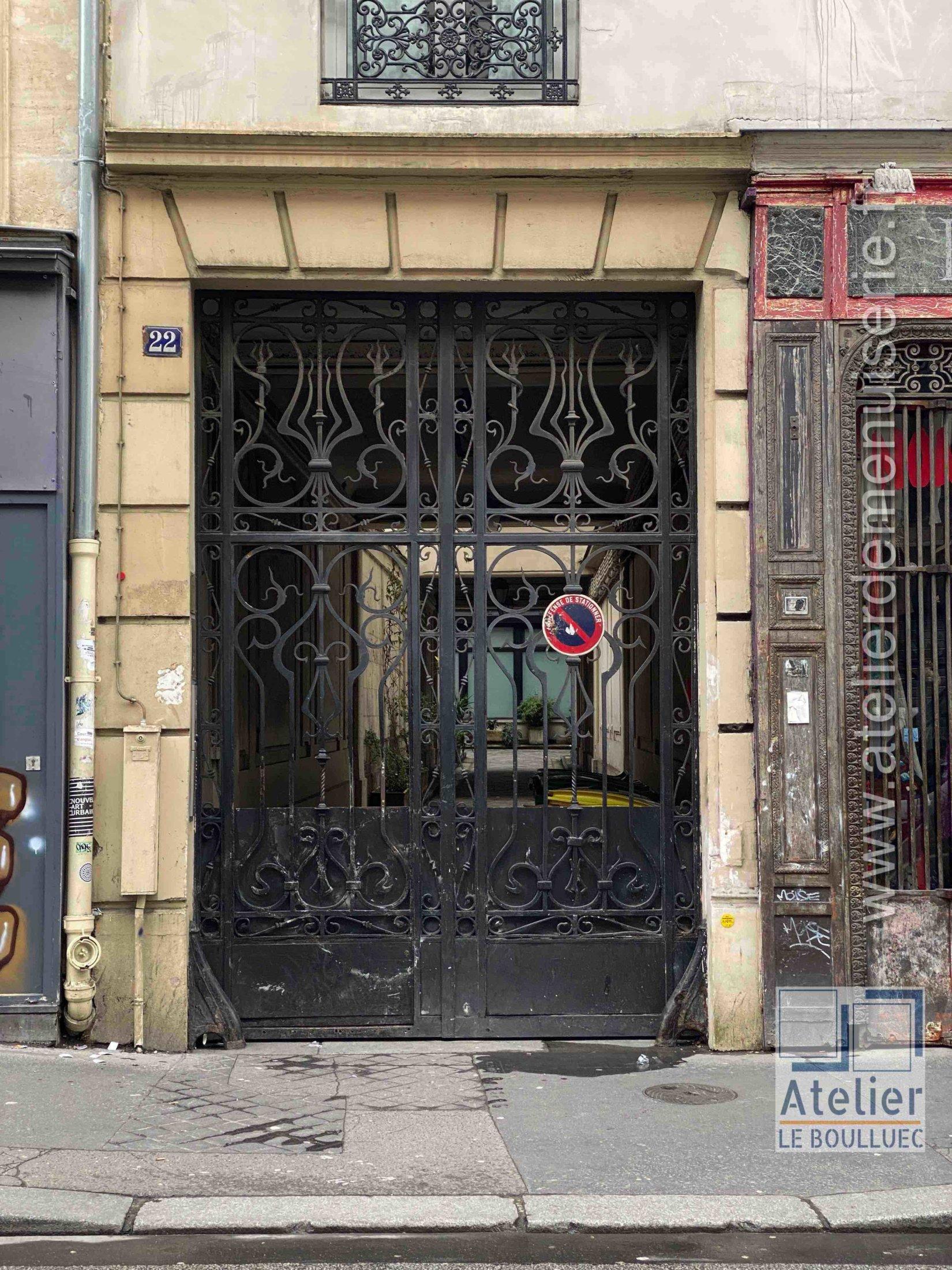 Porte Cochère Acier Forgé - 22 RUE DE LAPPE PARIS 11
