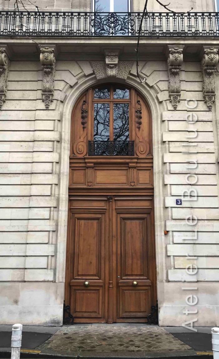 Porte Cochère Avec Imposte - 3 Av De Villiers Paris 17