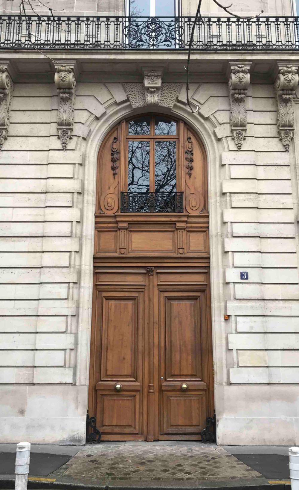 Porte Cochère Avec Imposte 3 Av De Villiers Paris 17