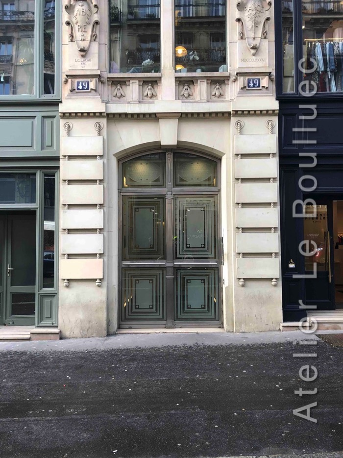 Porte Cochère En Verre - 49 RUE ETIENNE MARCEL PARIS 1