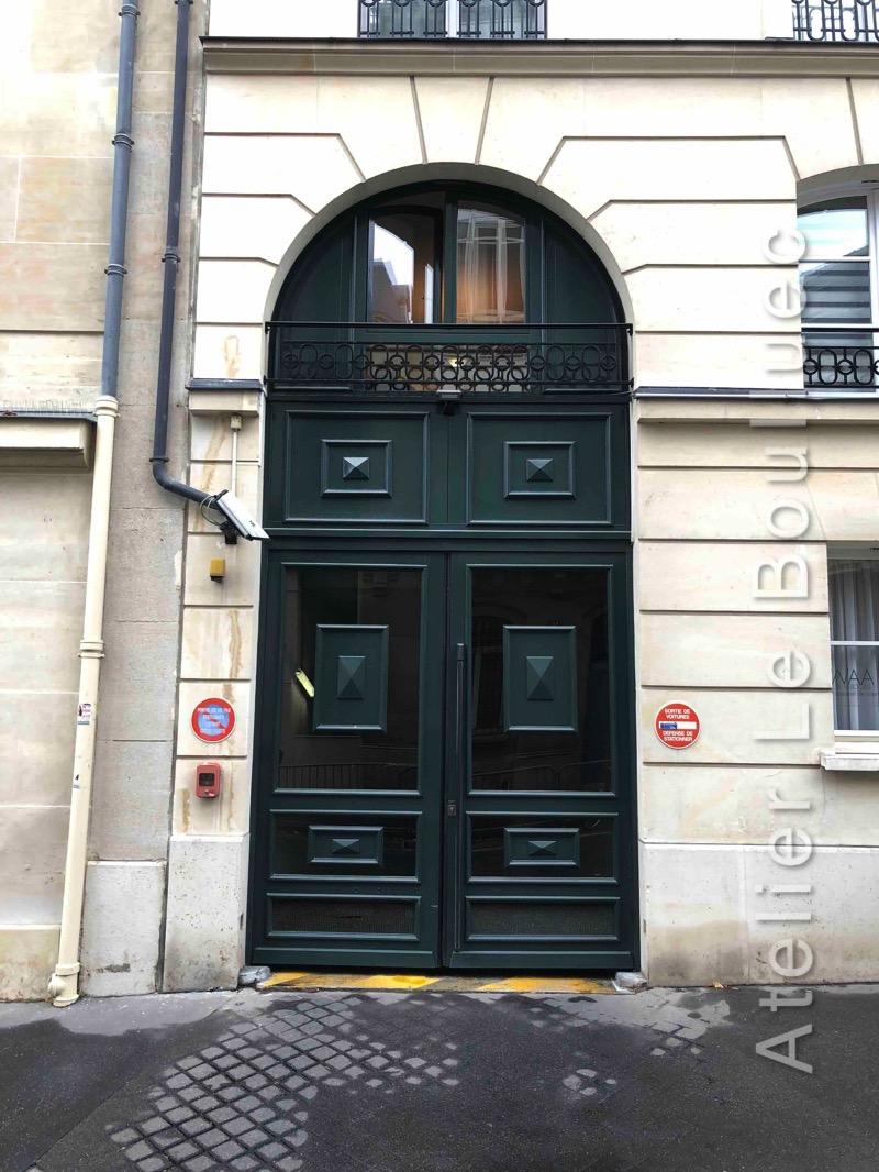 Porte Cochère Verre Et Bois - 19 RUE AMIRAL D\'ESTAING PARIS 16