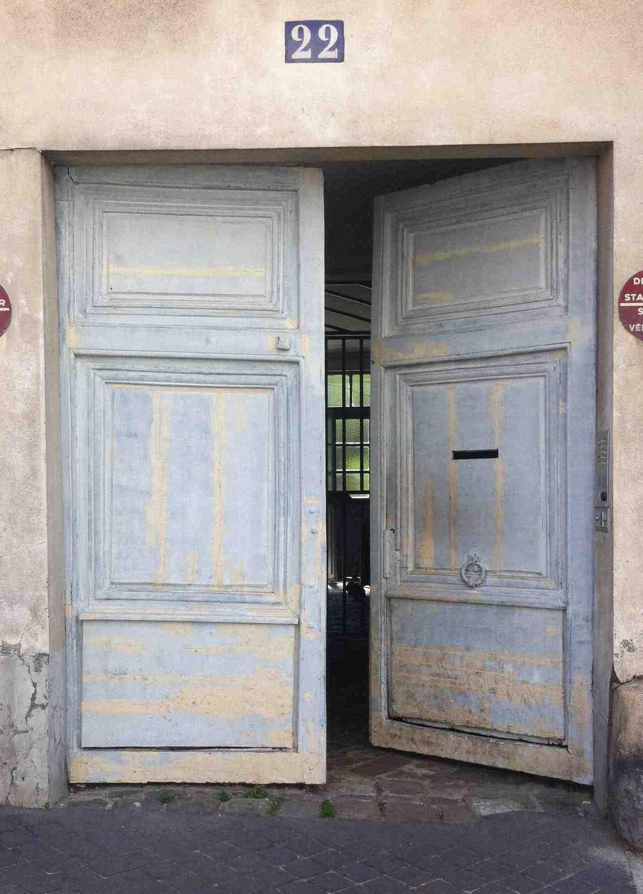Porte Cochère Rue Des Pavillons 02 Avant Dépose