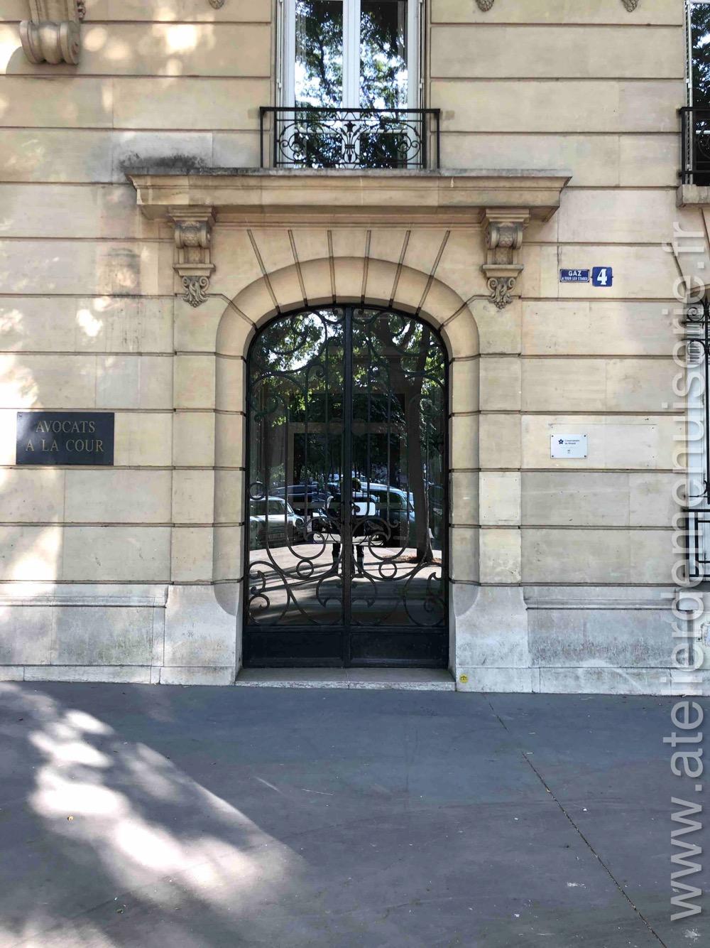 Porte En Fer Forgé 4 PLACE DENFERT ROCHEREAU PARIS 14
