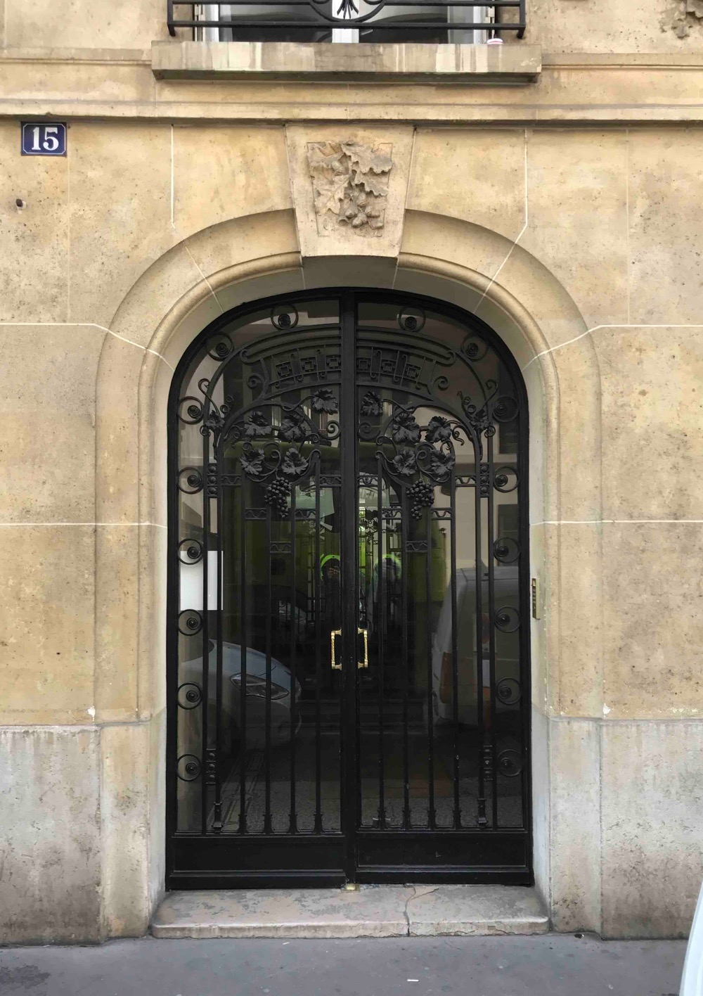Porte Fer Forgé - 15 Rue Chartran - Neuilly