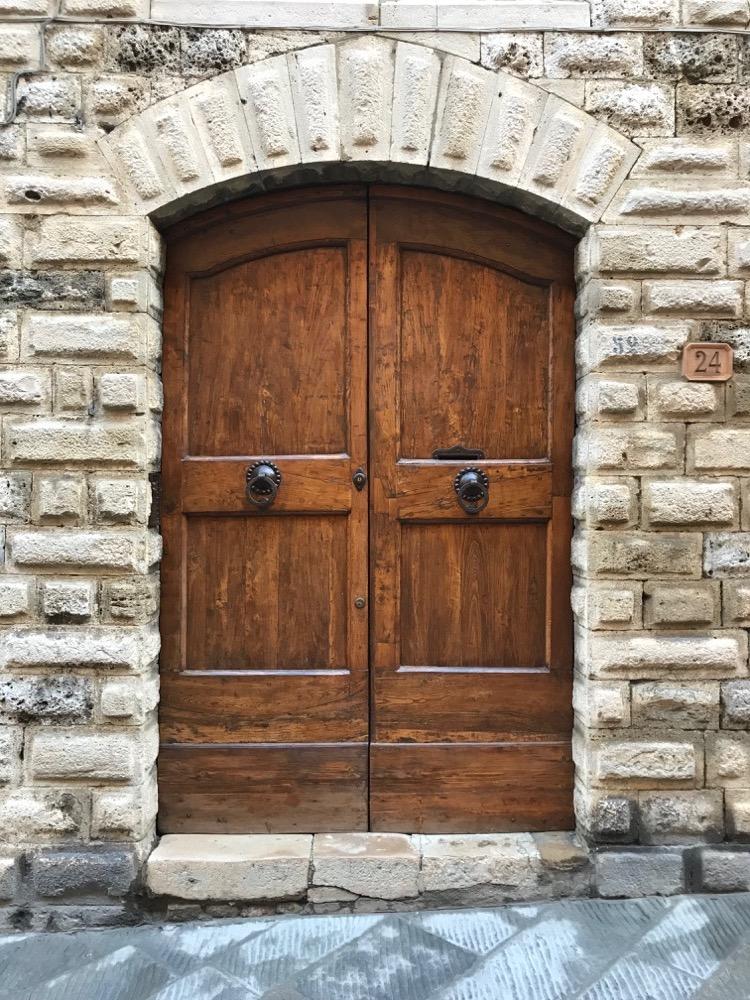 Porte Maison De Ville San Gimignano - Italie