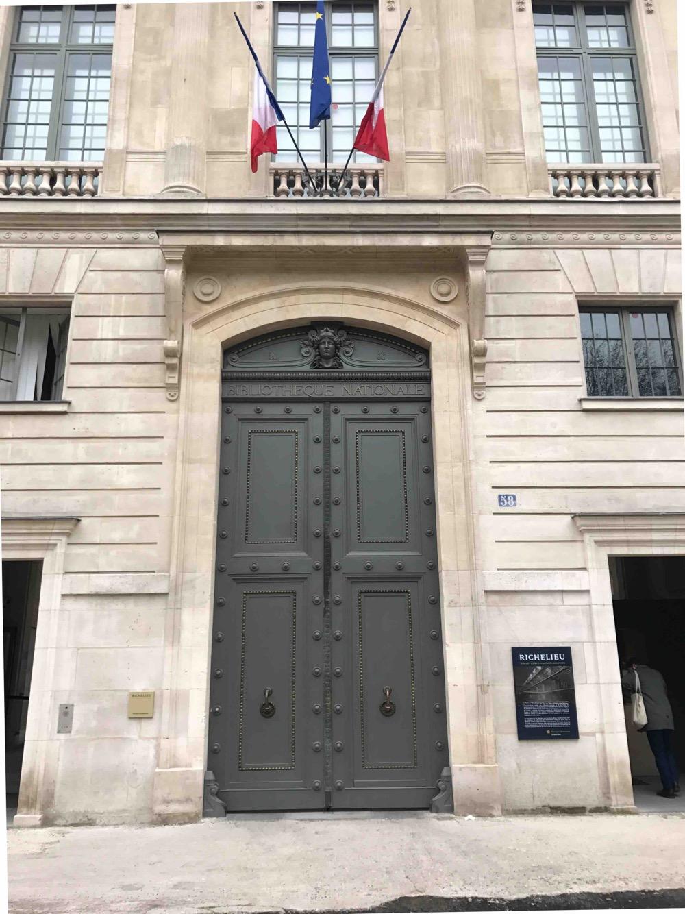 Porte Monumentale Bibliothèque Nationale 58 Rue De Richelieu - Paris 2