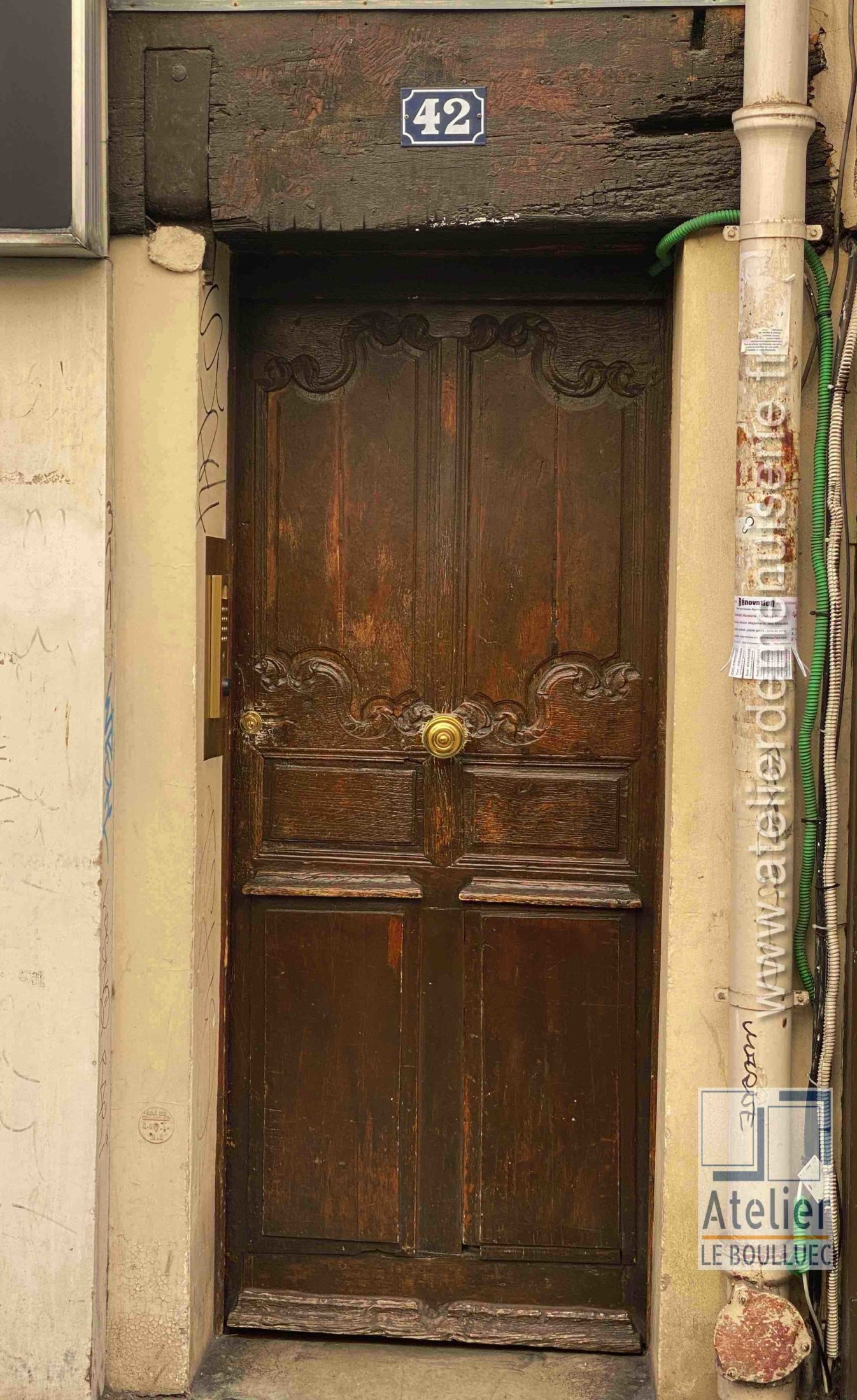 Porte Piétonne - 42 RUE SAINT PAUL PARIS 4