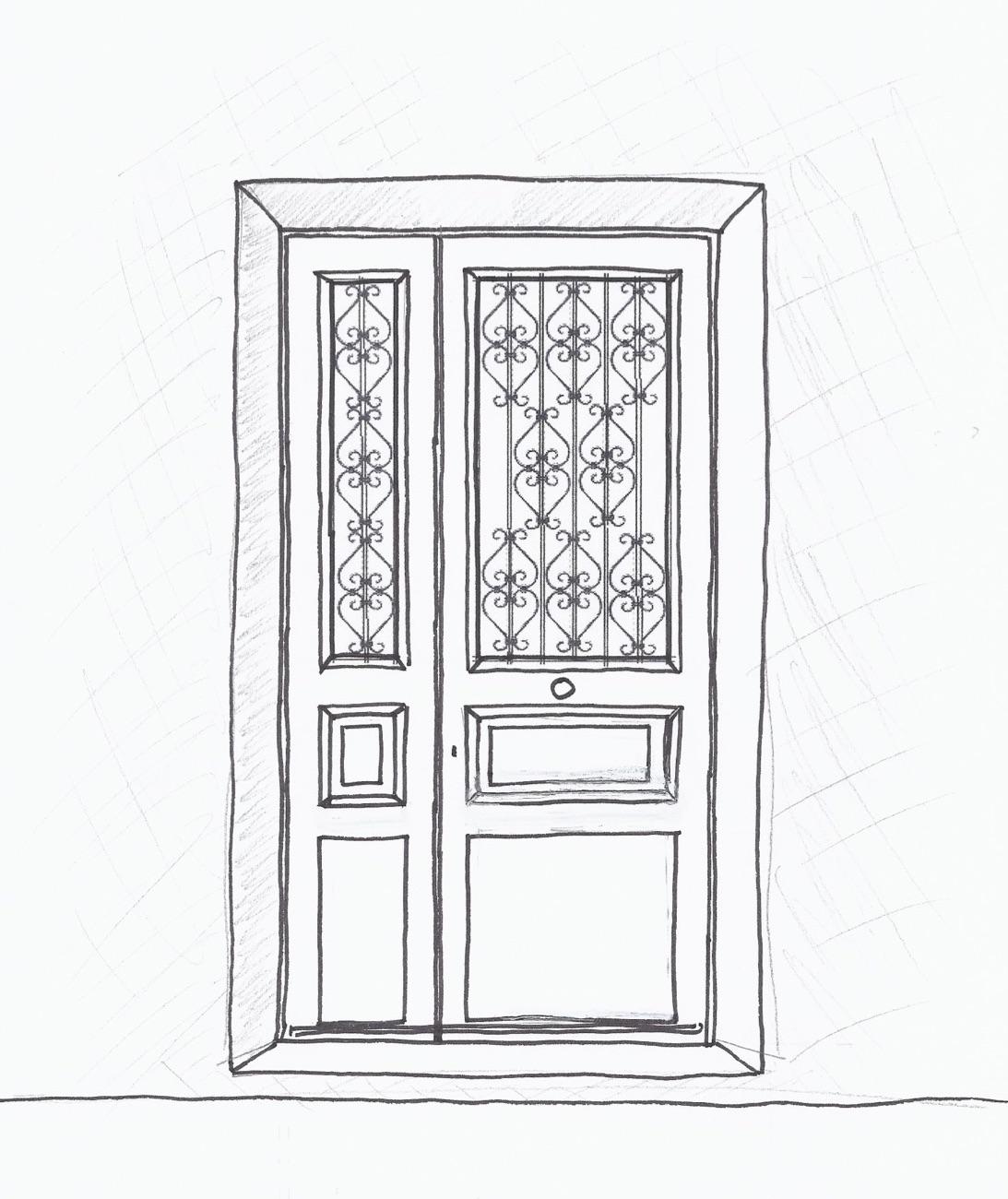 Porte Sur Rue Corbeilller 1 Tiercée Croquis Projet