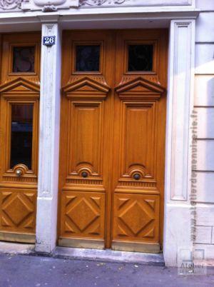2013 04 Porte Rue D\'AlesiaParis 14 Avec Décors Chêne