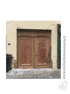 2017 04 Porte Cochère Pierrefitte Sur Seine Avant Peinture