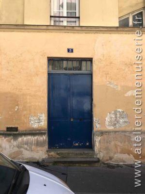 2019 01 Porte Rue 3 Square Carpeaux P1 Avant Remplacement