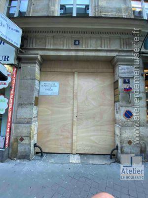 2020 01 Porte Cochère 4 Rue Chauveau Lagarde Paris 8 - P02 - Porte Provisoire