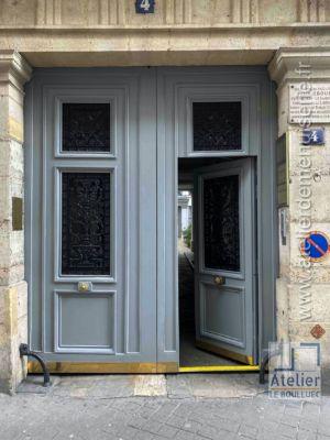 2020 01 Porte Cochère 4 Rue Chauveau Lagarde Paris 8 - P10 - Vue Ext Seuil Surbaissé Portillon Ouvert
