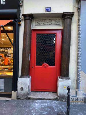 2020 01 Porte Rue 75 Rue Saint Honoré Paris 1er - Seule La Grille A été Remployée