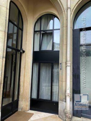 2020 03 Façade Acier En Arc Surbaissé Avec Ouvrant 41 Rue Boulard Paris 14