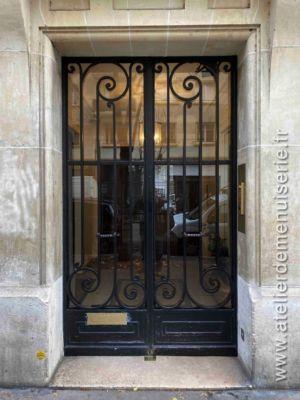 Porte Acier 129 RUE MICHE ANGE PARIS 16