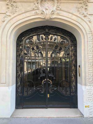 Porte Acier 53bis Rue Jouffroy D\'Abbans  Paris 17