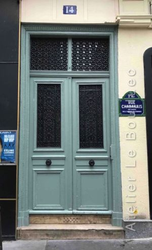 Porte Bâtarde Avec Grilles Très Ouvragées - 14 Rue Chabanais - Paris 2