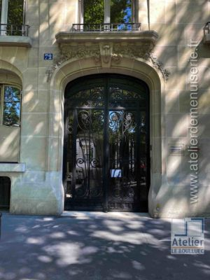 Porte Batarde Acier Forgé  - 72 BD DE COURCELLES
