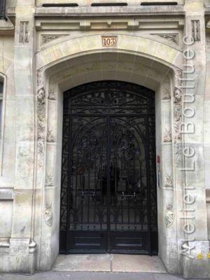 Porte Batarde En Acier - 103 RUE JOUFFROY D\'ABBANS PARIS 17