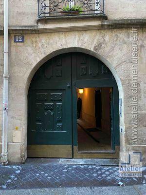 Porte Cochère LOUIS XIII - 12  RUE SEGUIER PARIS 5