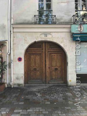 Porte Cochère Louis XIII - 73 QUAI DE LA TOURNELLE