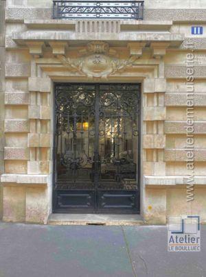 Porte Cochère Acier - 11 Avenue Elysée Reclus - Paris 7
