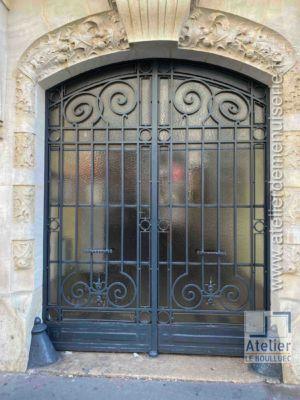 Porte Cochère Acier - 79 RUE DES ENTREPRENEURS PARIS 15